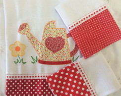 Kit 3 Panos Patchwork Regador