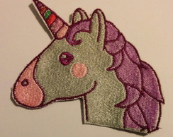 Patch Bordado Termocolante Unicornio