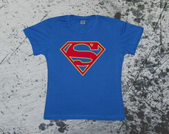 Camiseta Baby Look Super Girl