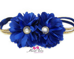 Headband strass flor Margarida