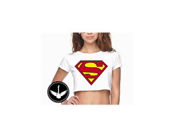 Blusa Cropped Super Man