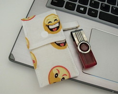 Porta pendrive Emoticons
