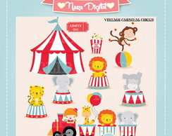 Kit Digital Scrapbook Circo N13