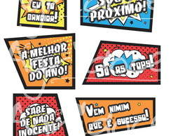 Plaquinhas Pop Art