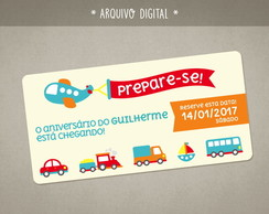 Meios de Transporte Save Date Digital