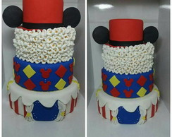 Bolo Fake Circo do Mickey