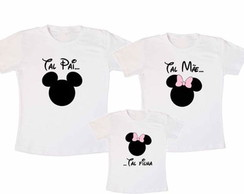 Kit Pai Mickey Mãe Minnie e Minnie