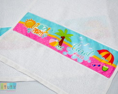 Toalhinha personalizada - Pool Party