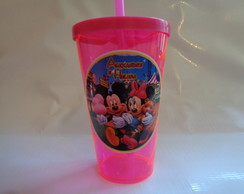 Copo c/ Canudo 550ml Mickey e Minnie 2