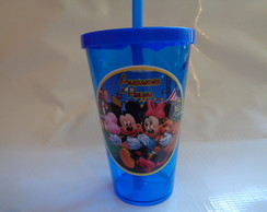 Copo c/ Canudo 550ml Mickey e Minnie 1