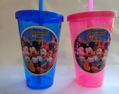 Copo c/ Canudo 550ml Mickey e Minnie 3