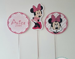 Toppers para Doces Minnie Rosa|12 unid.