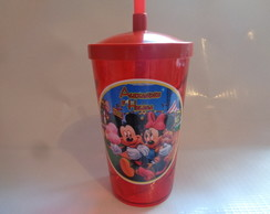 Copo c/ Canudo 500ml Mickey e Minnie 01