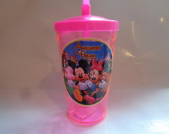 Copo c/ Canudo 500ml Mickey e Minnie 02