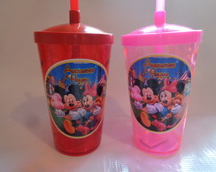 Copo Shake com Canudo de 500ml Mickey e Minnie 03