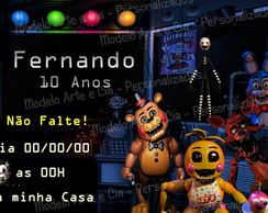 Convite Five Nights at Freddy's