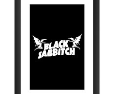 Quadro Black Sabbath Rock Hard Metal Dio