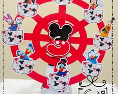 004 Cx Cone Roda Gigante Turma do Mickey