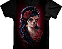 Camiseta Caveira Mexicana Tatoo