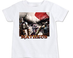 Camiseta Infantil Kratos God Of War Pers