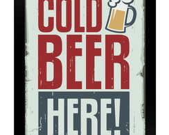 Quadro Poster 0033 Cold Beer Here!