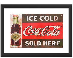 Quadro Coca Cola Retro Vintage Placa Art