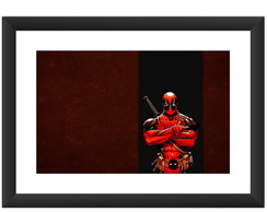 Quadro Deadpool Filme Hq Cinema Marvel