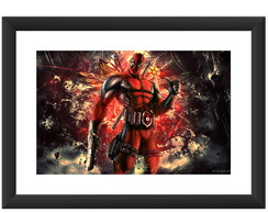 Quadro Deadpool Filme Herois Marvel DC