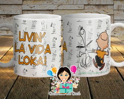 Caneca Snoopy e Charlie Brown Porcelana