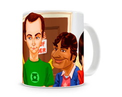 Caneca The Big Bang Theory Cartoon