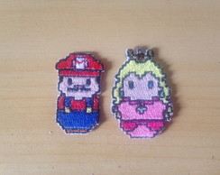 Patches Bordados Super Mario e Peach 1
