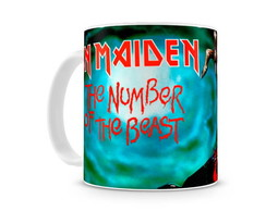 Caneca iron maiden number of the beast