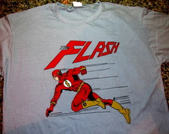 Camiseta pintada à mão The flash
