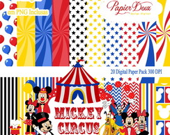 Kit Digital Mickey Minnie Circo