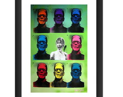 Quadro Frankenstein Filme Terror Pop Art