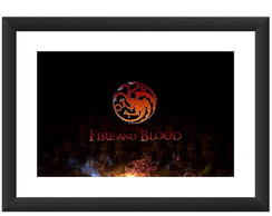 Quadro Game of Thrones Serie Targaryen