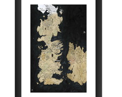 Quadro Mapa Game of Thrones Serie Tv HBO