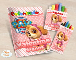Kit colorir giz massinha Patrulha canina