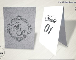 Numerador de Mesa tema Wedding 1