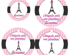 Adesivos, toppers e tags Paris 3 cm