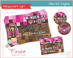 Mini Kit Digital Minecraft Girl
