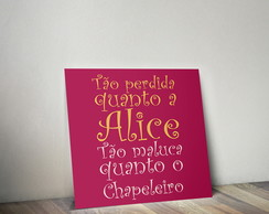 Quadro Decorativo- Poster Alice no pais