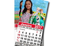 Calendario c/ Imã Frozen Fever