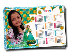 Calendario c/ Imã Frozen Fever 10x15 cm