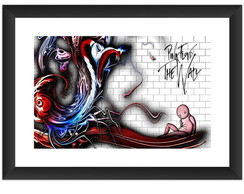 Quadro Pink Floyd The Wall Musica Rock