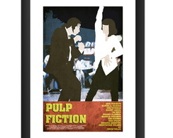 Quadro Pulp Fiction Minimalismo Art Cult