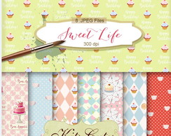 Kit Digital Papéis CupCake 01