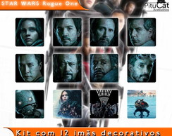 Star Wars Rogue One 12 imãs decor 5x5