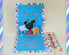 Convite Pop Up Mickey