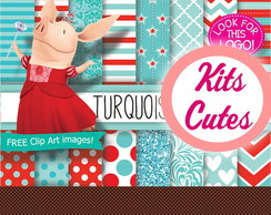 Kit Digital Olivia Turquesa 01